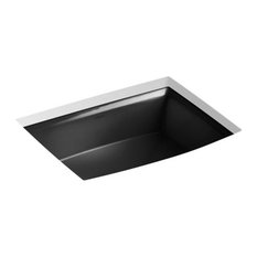 Kohler Archer Under-Mount Bathroom Sink, Black