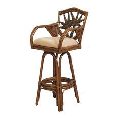 hospitality rattan indoor swivel 30 in bar stool tc antique