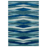Surya - Artist Studio Geometric Bright Blue, Teal Area Rug, 9'x13' - Embodying elegance and allowing splashes of current trend to shine through in each unique product, the radiant rugs found within the Artist Studio collection by Surya offer the perfect addition to your space. Hand tufted in 100% New Zealand wool, these flawlessly crafted pieces encompass both color and the durability of classic construction from room to room within any home decor.