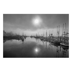 "Misty Harbor, Canvas Giclee, 18""x12"""