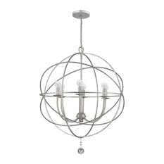 Crystorama Solaris 6 Light Silver Sphere Chandelier III