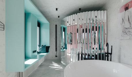 Проект недели: Загородная ванная с выходом... на балкон