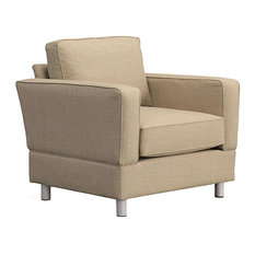 Raleigh Quick Assembly 'Chair and a Half' With Bonner Legs, Buff