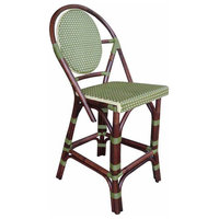 Outdoor Counter Stool, Green