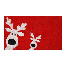 Home & More - Peeking Reindeer Doormat - Doormats