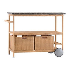 Cane-line Henley BBQ Table With Wheels