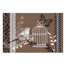 Brown Birdcage Gallery Door Mat, Large