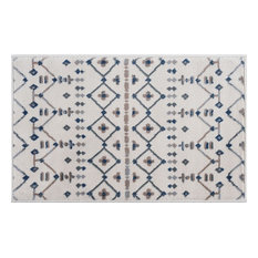 Heidy Transitional Geometric Cream Scatter Mat Rug, 2' x 3'