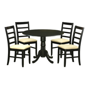 Best 1 Quincy 5 Piece Solid Wood Dining Set Black And