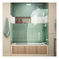 """DreamLine SHDR-3534586-01 Aqua Uno 34"""" Tub Door, Clear 1/4"""" Glass Door, Chrome"""