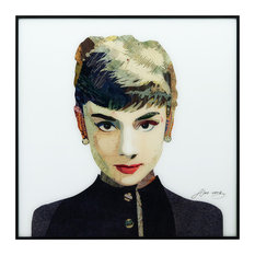 """Audrey"" Reverse Printed Art Framed With Black Anodized Aluminum"