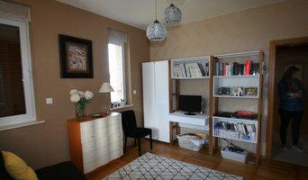 Chambre d'amis transformé avec un espace bureau