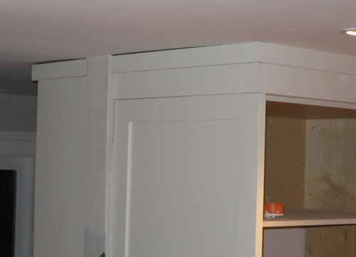 kitchen cabinets and uneven / wavy ceiling on