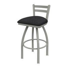 411 Jackie 30-inch Low Back Swivel Bar Stool With Graph Anchor Seat