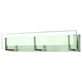 "Hinkley Latitude 4-Light Brushed Nickel Vanity, 26""x5.75"""