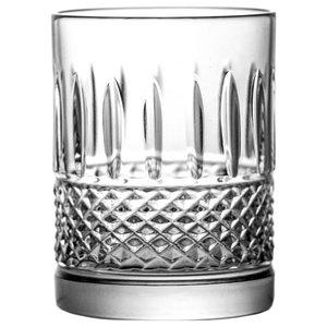 Modern Lead Crystal Glasses, Set of 6, Juice