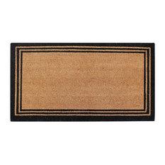 """Natural Coir Doormat With Classic Border Heavy Duty Outdoor Doormat, 18""""x30"""", 18"""