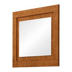 Sena Mirror With Walnut Frame, 80x95 cm