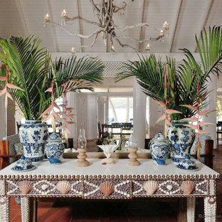 Exempel på ett exotiskt vardagsrum