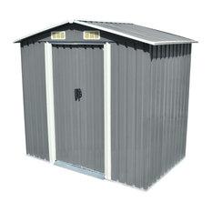 "vidaXL Garden Storage Shed Metal 80.3""x52""x73.2"" Garage Tool Storage House"