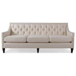Pleasant Coaster Fabric Sofa White Transitional Sofas By Gwg Outlet Alphanode Cool Chair Designs And Ideas Alphanodeonline