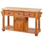 Prescott 3 Drawer Kitchen Island Table