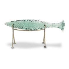 Palecek Glass Sakana Fish on Stand, Medium