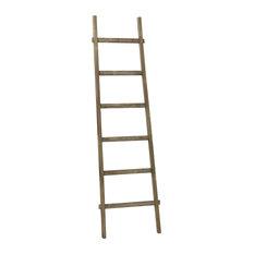 Aspire Home Accents, Inc. - Bambala 6' Decorative Ladder, Walnut Finish - Ladders and Step Stools