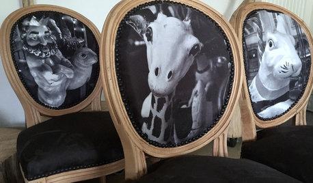DIY : Retapisser un dossier de siège avec une photo imprimée