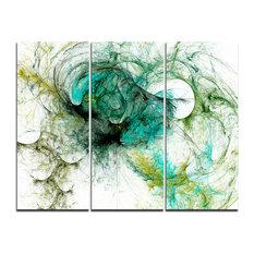 """Fractal Digital Paint Pattern"" Digital Wall Art, 3 Panels, 36""x28"""