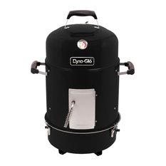 Dyna-Glo - Dyna-Glo Compact Charcoal Bullet Smoker - High Gloss Black - Smokers