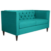Indoor Grant Loveseat With Teal Finish 101206