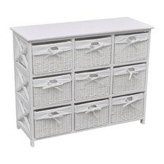 VidaXL Storage Cabinet, Akron, White