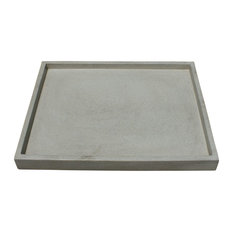 Multi Purpose Concrete Tray, Natural Concrete