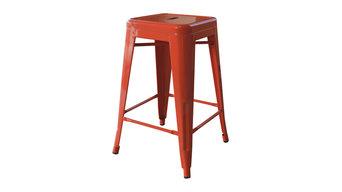 Orange Metal Bar Stool - Set of 2