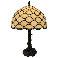 Amora Lighting AM120TL12B Tiffany Style Jewel Table Lamp 19 Inches Tall