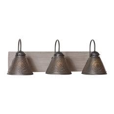 3 Light Crestwood Vanity Light, Earl Gray
