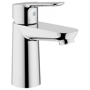 Contemporary Single Lever Basin Mixer Tap, Solid Brass With Smooth Handling