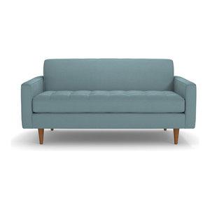 Monroe Apartment Size Sofa, Cloud Velvet, 56