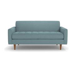 "Monroe Apartment Size Sofa, Cloud Velvet, 56""x34""x31"""
