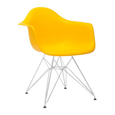 Padget Arm Chair, Yellow, Set of 2