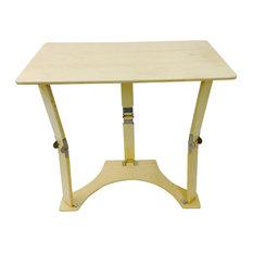Spiderlegs Wooden Folding Laptop Desk/Tray Table, Natural Birch
