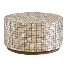East at Main's Cummings Coconut Shell Coffee Table, Tumbled Granite