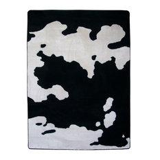 Cowhide Rug, Black, 3'x4, Scatter
