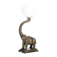 Trumpeting Elephant Lamp