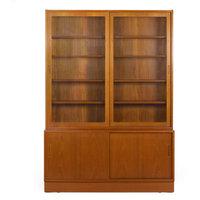 Consigned Danish Modern Teak Bookcase Bookshelf Cabinet by Poul Hundevad