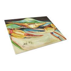 Blue Crab Glass Cutting Board, Large JMK1095LCB