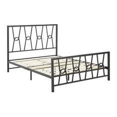 Dreams Bespoke Mannix Metal Platform Bed Frame, Queen