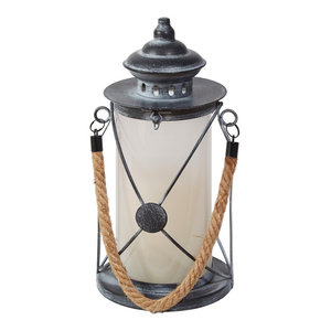 "Smart Living 83013LF Walden 12"" Lantern With Dancing Flame"