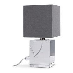 Regina Andrew  131124  One Light Mini Lamp  Crystal  Clear